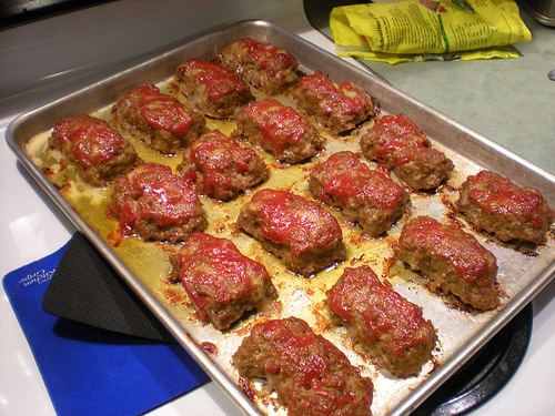 My Swedish meatballs or mini-meatloaf