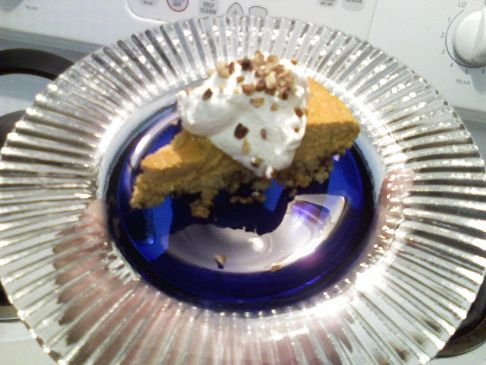 Niki's Creamy Pumpkin Pie with Pecan Crust