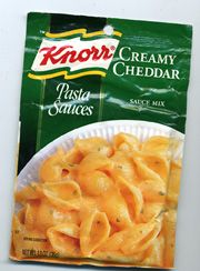 Knorr creamy cheddar pasta sauce