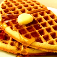 Homemade Cornmeal Waffles