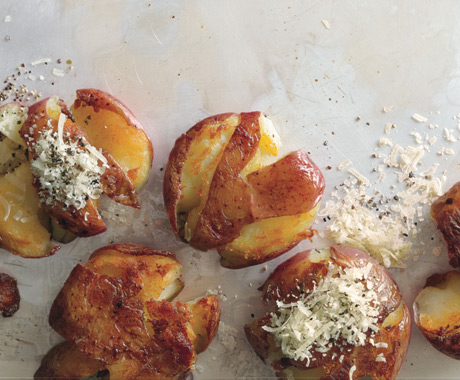 Panfried Smashed Potatoes