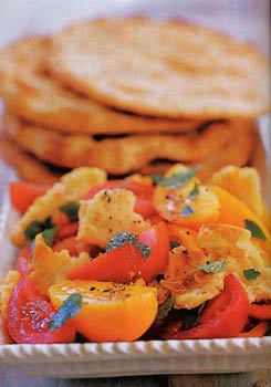 Lebanese Bread and Tomato Salad