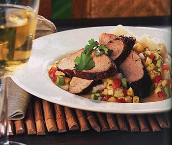 Spiced Pork Tenderloin and Avocado Salsa