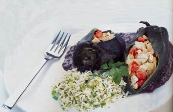 Juana's Chicken-Stuffed Poblanos