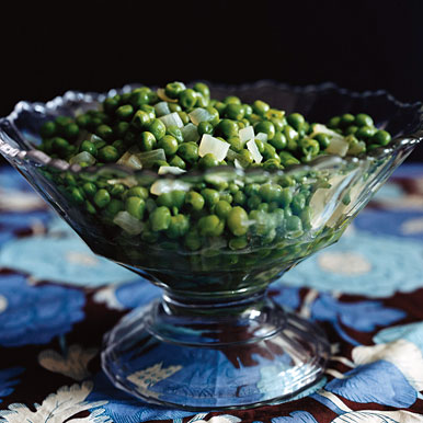 Buttered Peas with Onion