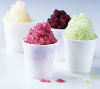 Blueberry Ginger Granita