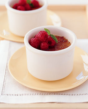 Lemon Crème Brûlée with Fresh Berries