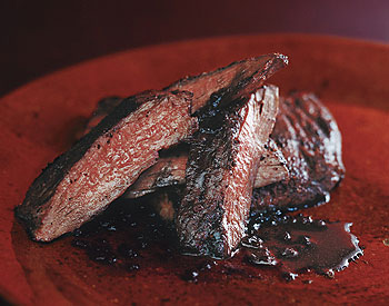 Sumac Skirt Steak with Pomegranate Reduction