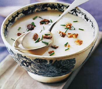 Parsnip Bisque with Crisp Chestnuts