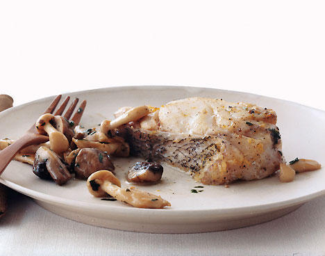 Hake with Wild Mushrooms