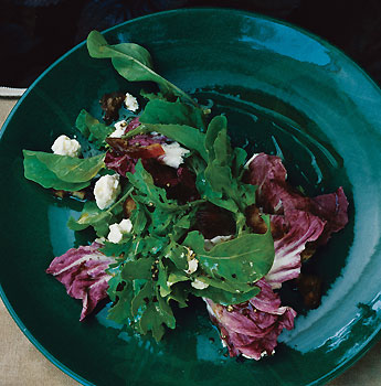 Arugula and Radicchio with Feta and Dates