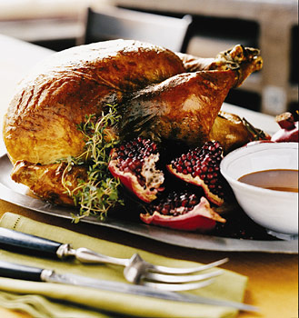 Roast Turkey with Pomegranate Gravy