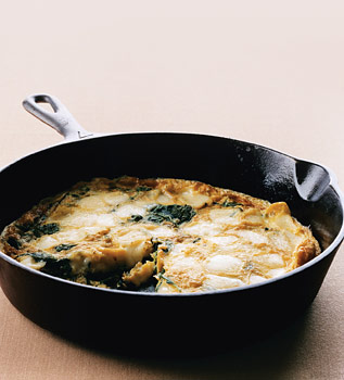 Arugula and Fontina Frittata