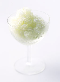 Granny Smith, Ginger, and Basil Granita