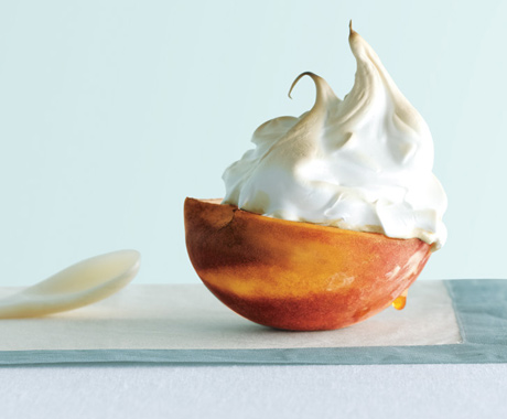 Peaches Under Meringue