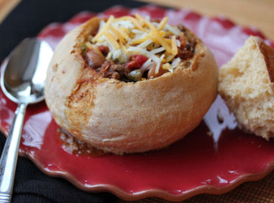 Homemade Bread Bowls for Chili made in bread maker
