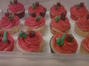 Book Worm cupcakes