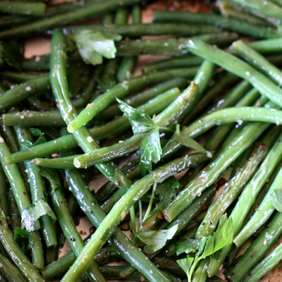 Fresh Green Beans with Lemon, Garlic & Parsley