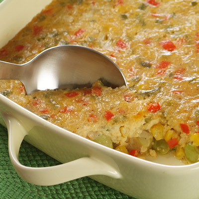 Corn and Lima Bean Pudding