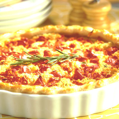 Seasoned Tomato and Garlic Quiche
