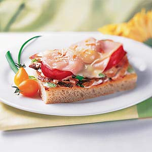 Open-Faced Italian Focaccia Sandwich