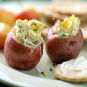 Artichoke-Stuffed New Potatoes