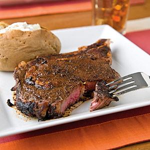 Coffee-Crusted Steaks