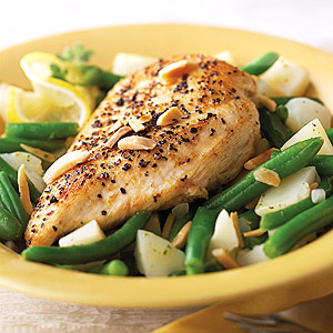 Lemon Chicken with Potatoes and Green Beans