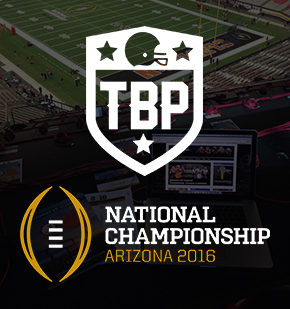 TBP accrédité au National Championship Game
