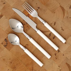 Genmert Inc Sonoma White 16 Piece Flatware Set Flatware