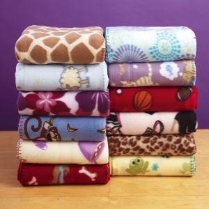 Printed Fleece Throws