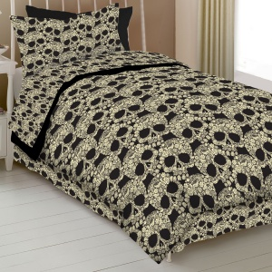 ... Skull Comforter Collection: Twin Sheet Set - Kids and Teen Bedding
