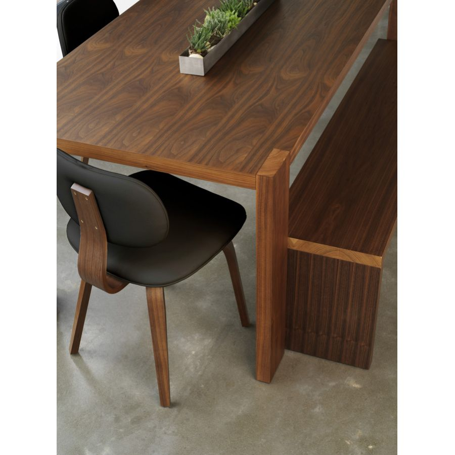 bobby berk home dining with gus modern - plank dining table and bench with thompson chair