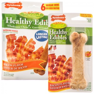 Healthy Edibles All Natural - Bacon Flavor - Natural Dog Treats Best Price