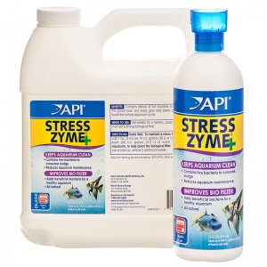 Aquarium Pharmaceuticals Stress Zyme: 1 Gallon (Treats 7 560 Gallons) #056F - Aquarium Bio Additives Best Price