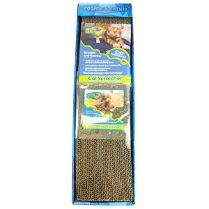 Cosmic Catnip Cardboard Straight and Narrow Scratcher