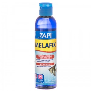 Aquarium Pharmaceuticals MelaFix Antibacterial Fish Remedy: 4 oz - (Treats 236 Gallons) #11G - Bacterial and Fungal Aquarium Medications Best Price
