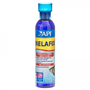 Aquarium Pharmaceuticals MelaFix Antibacterial Fish Remedy: 8 oz - (Treats 474 Gallons) #11H - Bacterial and Fungal Aquarium Medications
