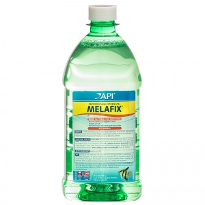 Aquarium Pharmaceuticals MelaFix Antibacterial Fish Remedy: 64 oz - (Treat18 900 Gallons) #11P - Bacterial and Fungal Aquarium Medications Best Price
