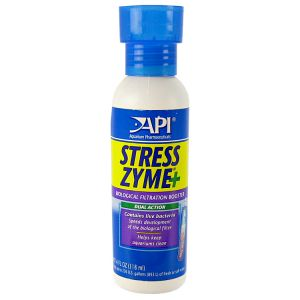 Aquarium Pharmaceuticals Stress Zyme: 4 oz - (Treats 240 Gallons) #56C - Aquarium Bio Additives Best Price