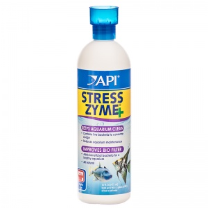 Aquarium Pharmaceuticals Stress Zyme: 16 oz - (Treats 960 Gallons) #56E - Aquarium Bio Additives Best Price