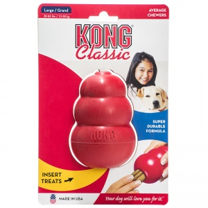 Kong Classic Dog Toy: Large - 4 - (Dogs 30-65 lbs) #T1 - Dog Chew Toys Best Price