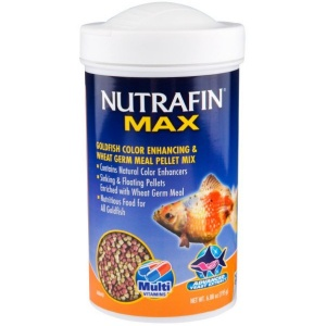 Nutrafin Max Goldfish Color Enhancing and Wheat Germ Meal Pellet Mix: 6.88 oz #A6864 - Goldfish Food Best Price