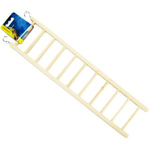 Living World Wood Ladders: 11-Step Wood Ladder #81504 - Bird Ladders and Activity Centers