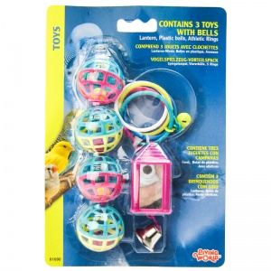 Living World 3 Toys with Balls - Bird Toys Best Price
