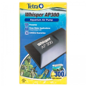 Tetra Whisper Air Pump: Whisper AP 300 - Formerly DW96-2 (2 Air Outlets) - 300 Gallon #26076 - Aquarium Air Pumps Best Price