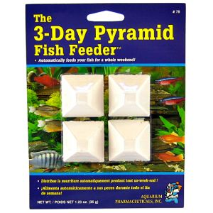 Aquarium Pharmaceuticals 3-Day Pyramid Fish Feeder #78 - Fish Vacation Feeder Blocks Best Price