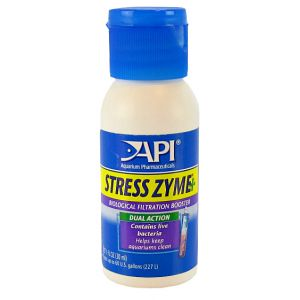 Aquarium Pharmaceuticals Stress Zyme: 1 oz - (Treats 60 Gallons) #56A - Aquarium Bio Additives Best Price