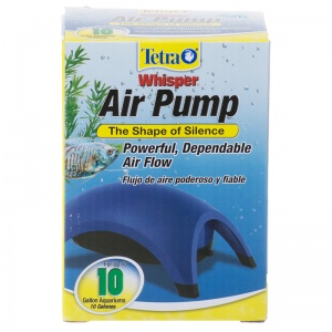 Tetra Whisper Air Pumps: 10 Gallon - 1 Outlet #77851 - Aquarium Air Pumps Best Price