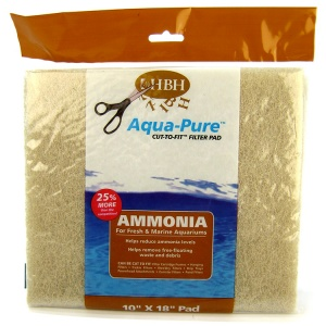 HBH Pet Products Ammonia Cut To Fit Filter Pad - 10 x 18: Ammonia Filter Pad - (10L x 18W) #30027 - Aquarium Filter Pads Best Price